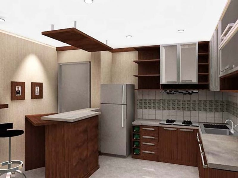 Design kitchen set mewah for Dapur kitchen set