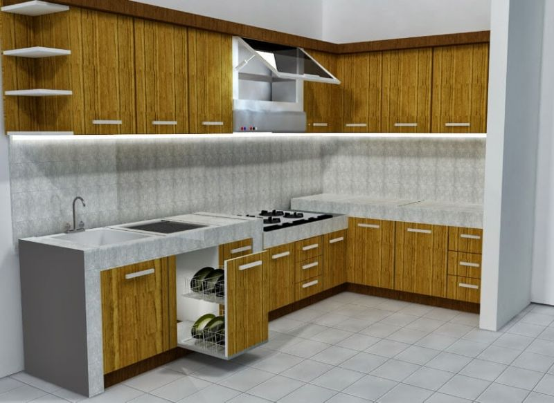 harga kitchen set minimalis modern